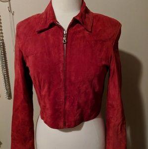 Jackets & Blazers - Saguaro Suede Crop Jacket Size Small